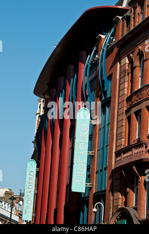 Trocadero building on Shaftesbury Avenue, London, United Kingdom - Stock Photo