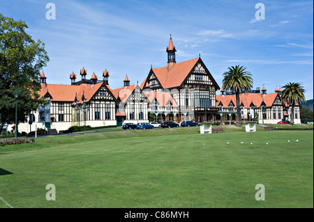 The Museum of Art and History Government Gardens at Rotorua North Island New Zealand NZ - Stock Photo