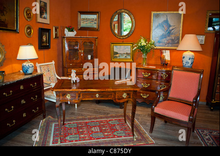 interior room with antiques on display at the pinang peranakan stock photo royalty free image. Black Bedroom Furniture Sets. Home Design Ideas