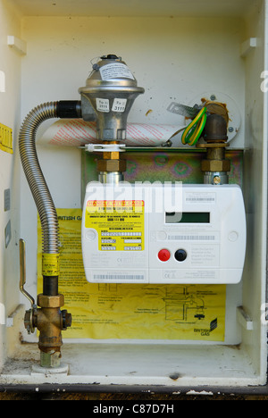 A modern domestic 'smart' gas meter. UK, 2011. - Stock Photo
