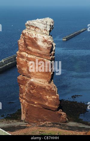 The Tall Anna, the landmark of the German island of Heligoland. - Stock Photo