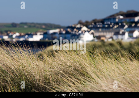 Appledore, North Devon from Northam Burrows - Stock Photo