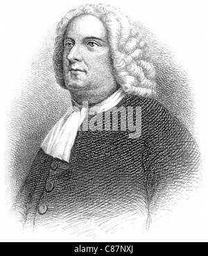 WILLIAM PENN  (1644-1718) English-born founder of province of Pennsylvania - Stock Photo