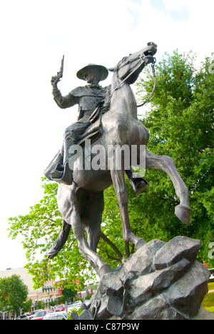 Texas Ranger Captain John Coffee 'Jack' Hays (1817-1883) statue on the Hays County Courthouse grounds in San Marcos, - Stock Photo