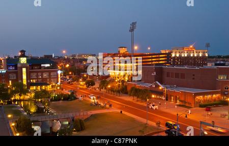 AT&T Bricktown Ballpark in Bricktown District of Oklahoma City, Oklahoma, USA - Stock Photo