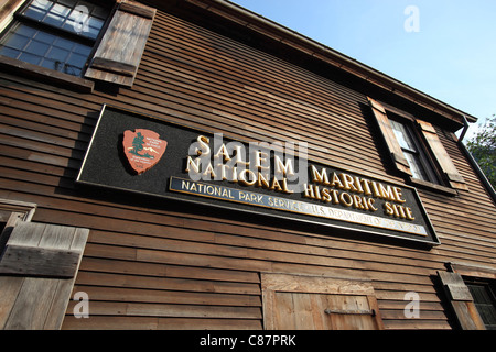 Visitor's center at the Salem Maritime National Historic Site in Salem, Massachusetts - Stock Photo