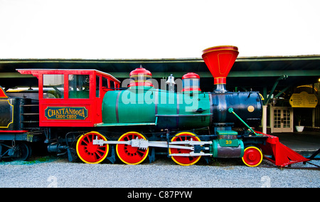 Chattanooga Choo Choo Train displayed at historic Terminal Station in Chattanooga, Tennessee, USA - Stock Photo