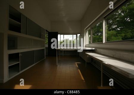 Kitchen of Villa Savoye in Poissy near Paris, France, by ...Villa Savoye Kitchen