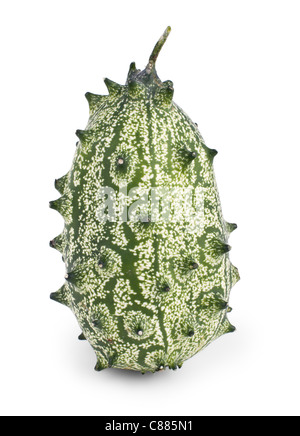kiwano melon isolated on white background - Stock Photo
