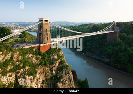 Clifton Suspension Bridge Clifton Bristol Avon England - Stock Photo