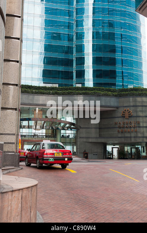 The Entrance and Lobby to The Harbour Grand Hotel in Kowloon Hong Kong China Asia - Stock Photo