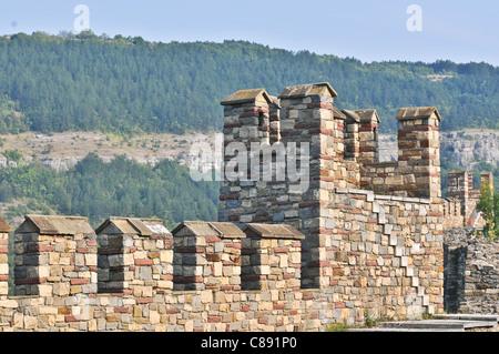Tsarevets medieval fortress in Veliko Tarnovo, Bulgaria - Stock Photo