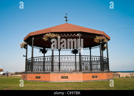 The Military Bandstand Walmer Deal in Memory of Military Bandsmen Killed In IRA Bombing of 1989. - Stock Photo