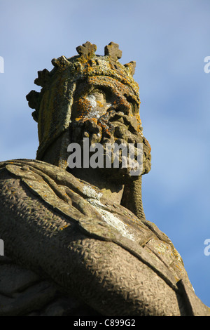City of Stirling, Scotland. Close up view of the King Robert the Bruce Monument on Stirling Castle Esplanade. - Stock Photo