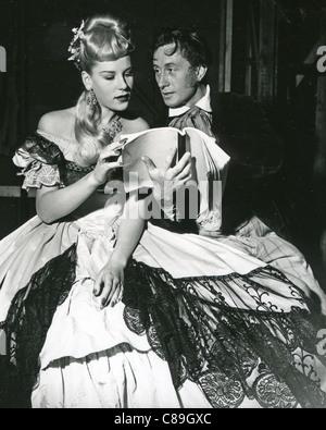 PATTI MORGAN (CHAMOUN) 1928-2001 - Australian-born fashion model and film actress in 1948 filming Idol of Paris - Stock Photo