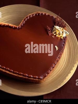 Hearted Shaped Chocolate Cake