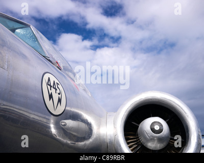 Vintage aeroplane - Avro CF-100 Canuck Mk. 3B - Canadian fighter aircraft - Stock Photo