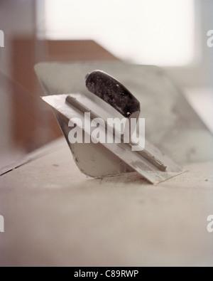 Plastering trowel - Stock Photo