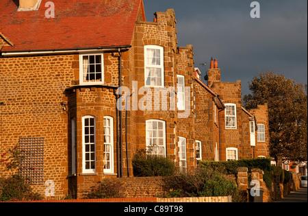 carstone houses, hunstanton, norfolk, england - Stock Photo