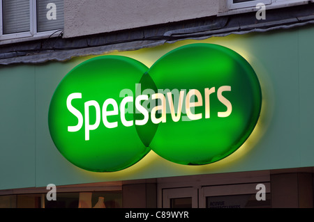 Specsavers shop sign - Stock Photo