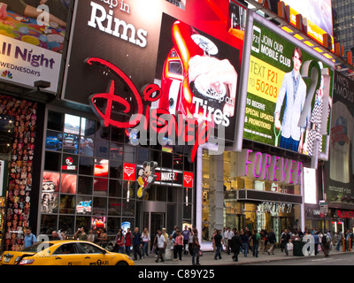 Disney Store Marquee, Times Square, NYC - Stock Photo