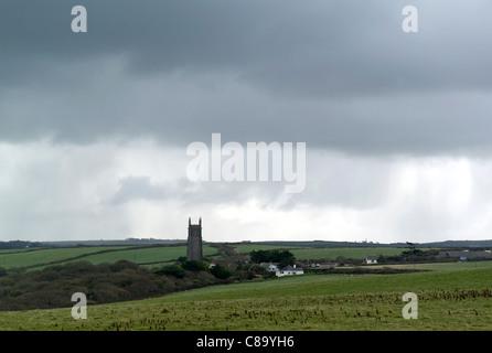 St Nectan's church, Stoke, near Hartland, North Devon, UK - Stock Photo