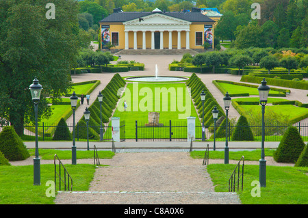 Botanical Gardens in Uppsala city Svealand province Sweden Europe - Stock Photo