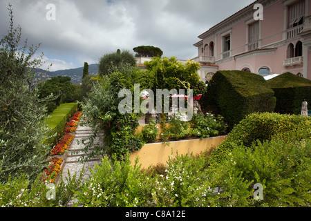 Villa Ephrussi de Rothschild: Villa Ephrussi de Rothschild and Gardens - Stock Photo
