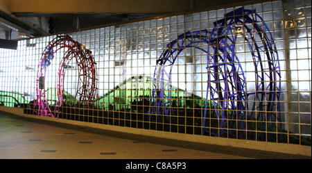 Artwork in the Coney Island Subway Terminal at Stillwell Avenue - Stock Photo