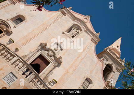 San Giuseppe Church, Piazza IX Aprile, Taormina, Sicily, Italy - Stock Photo