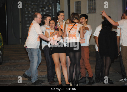 Sussex and Brighton  University students enjoy the annual Carnage UK event in Brighton - Stock Photo