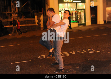 Students enjoy the annual Carnage UK event in Brighton - Stock Photo