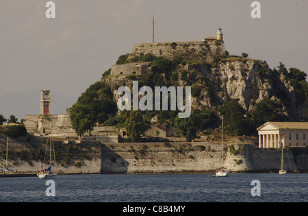 Greece. Corfu. Old Fort, built by the Venetians in the XVI century on a rocky promontory jutting into the sea. Ionian - Stock Photo