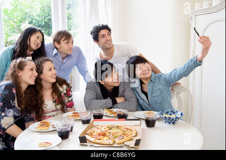 Group of friends taking self portrait photograph