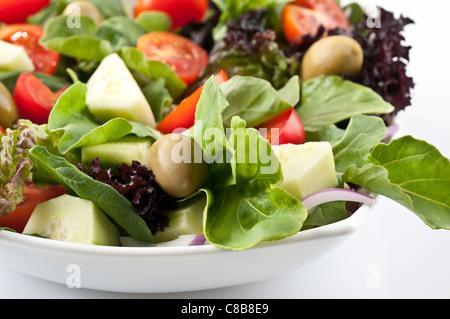 Mediterranean salad with arugula (rocket, roquette, rucola or arugula) - Stock Photo