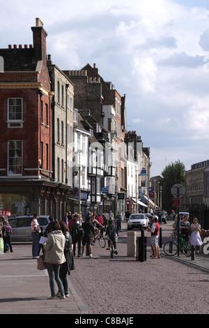 Kings Parade Cambridge May 2011 - Stock Photo