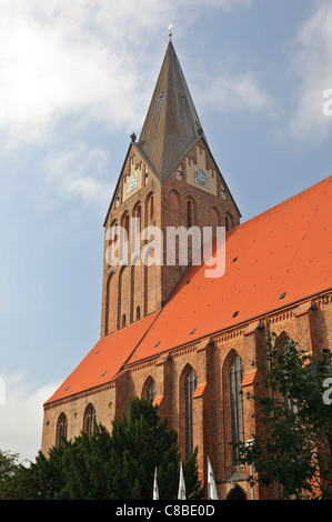 The Marienkirche (St. Mary's church) in Barth, Mecklenburg-Vorpommern, Germany. - Stock Photo