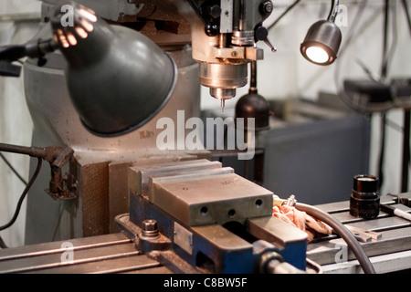 A Bridgeport drill press. - Stock Photo