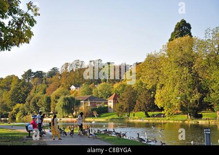 River Thames and Caversham Court Gardens, Caversham, Reading, Berkshire, England, United Kingdom - Stock Photo