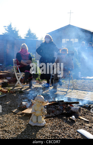 Residents of Dale Farm travellers' site at Crays Hill near Basildon Essex, UK, face eviction. Determined to resist, - Stock Photo