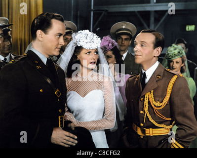 JOHN HUBBARD RITA HAYWORTH & FRED ASTAIRE YOU'LL NEVER GET RICH (1941) - Stock Photo