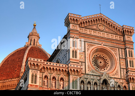 Florence - the Duomo of Florence, in a detailed view - Stock Photo