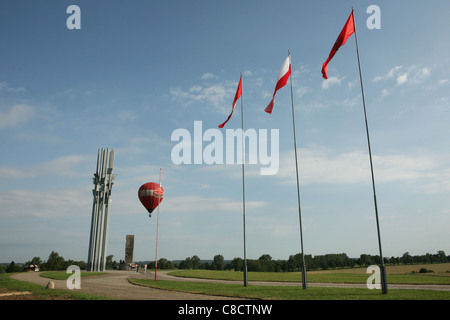 Monument on the battlefield of the Battle of Grunwald (1410) in Northern Poland. - Stock Photo