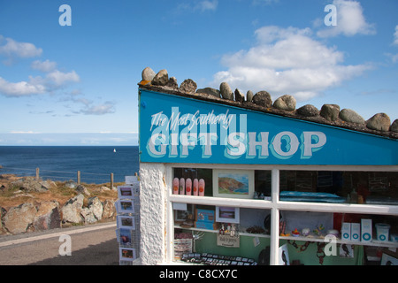 The Most Southerly Gift Shop in England, Lizard Point, Cornwall - Stock Photo