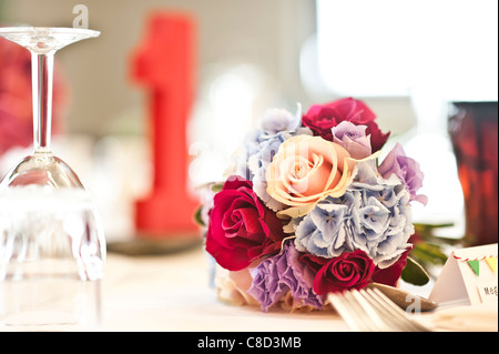 a bride's wedding bouquet of flowers - Stock Photo