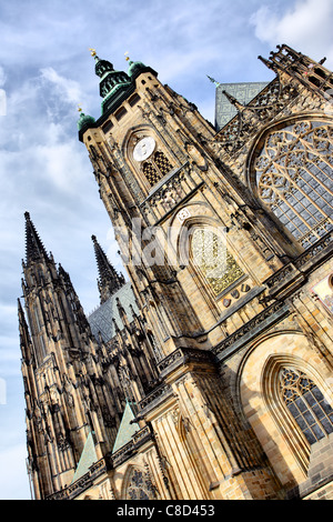 St. Vitus Cathedral, Prague, Czech republic - Stock Photo