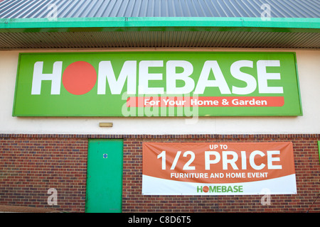 General view of the exterior of a Homebase branch in Aylesbury - Stock Photo
