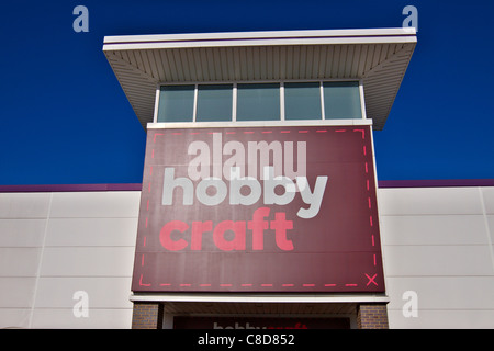 General view of the exterior of a hobby Craft store in Aylesbury - Stock Photo
