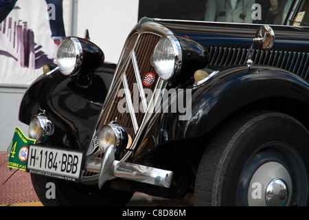 Vintage Citroen, front detail - Stock Photo