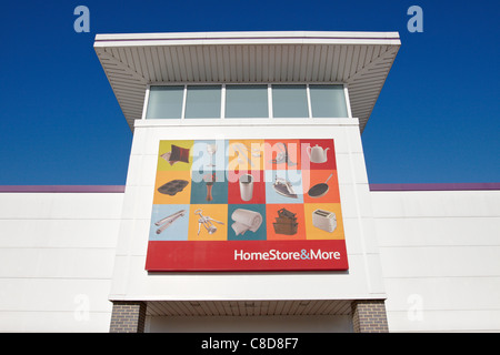 General view of the exterior of a HomeStore and More shop in Aylesbury - Stock Photo